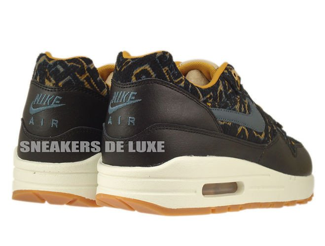 English: 454746-003 Nike Air Max 1 Premium Black/Dark Armory Blue ...