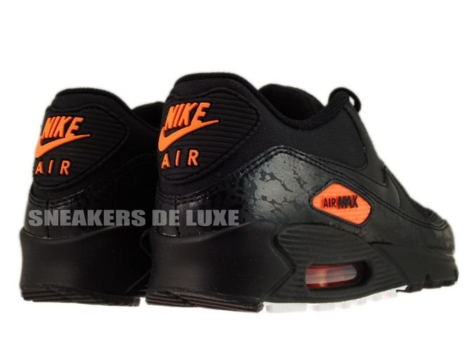 2009 Nike Air Max 90 premium 333888 004   black black-total orange size 11