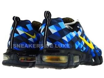 336155-471 Nike Tuned X 10 Skyfade Blue Spark/Tour Yellow-Black